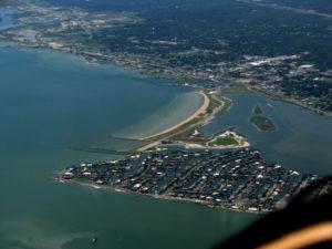 rockport beach aerial