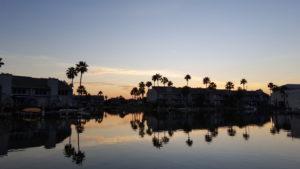 Beautiful sunrise over Key Allegro condos