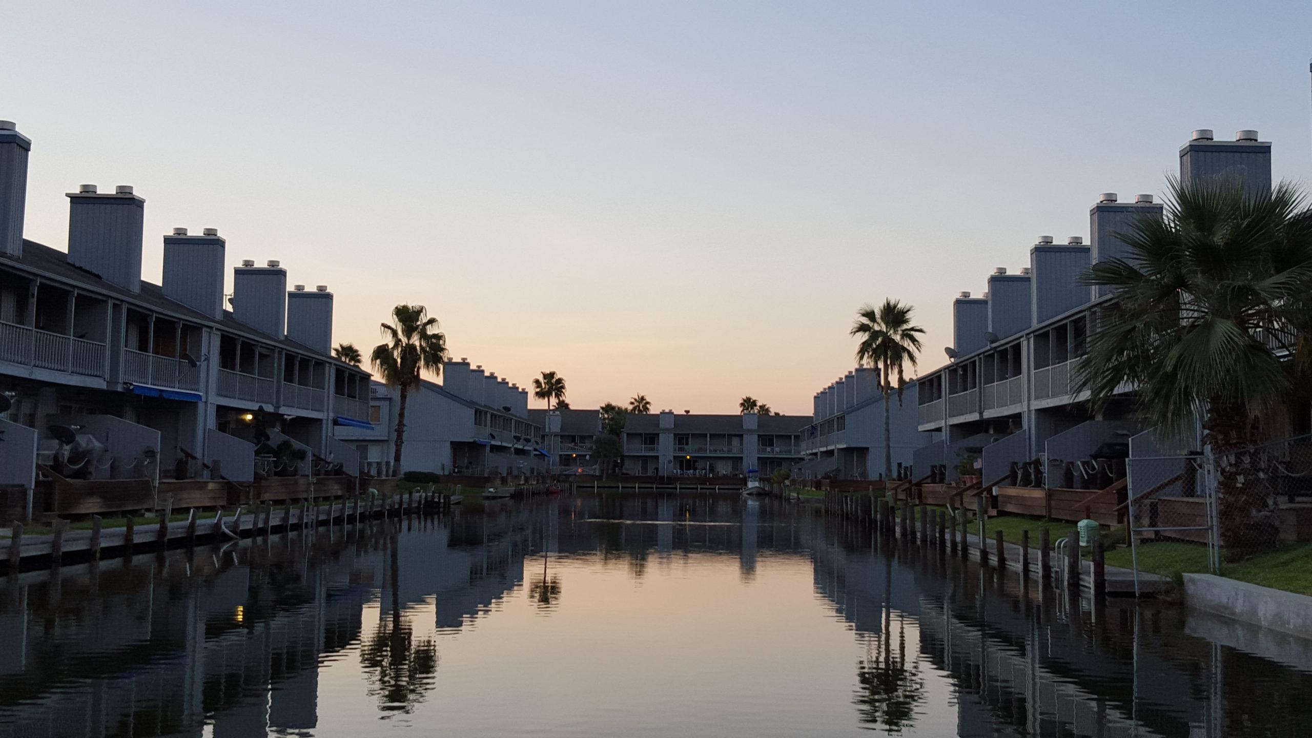 Key Allegro Condo main canal at sunrise