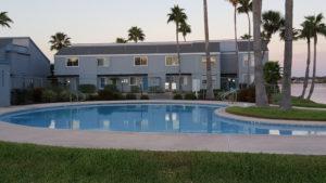 Key Allegro Condo private pool at sunrise