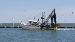 Fulton Shrimper returning to Harbor